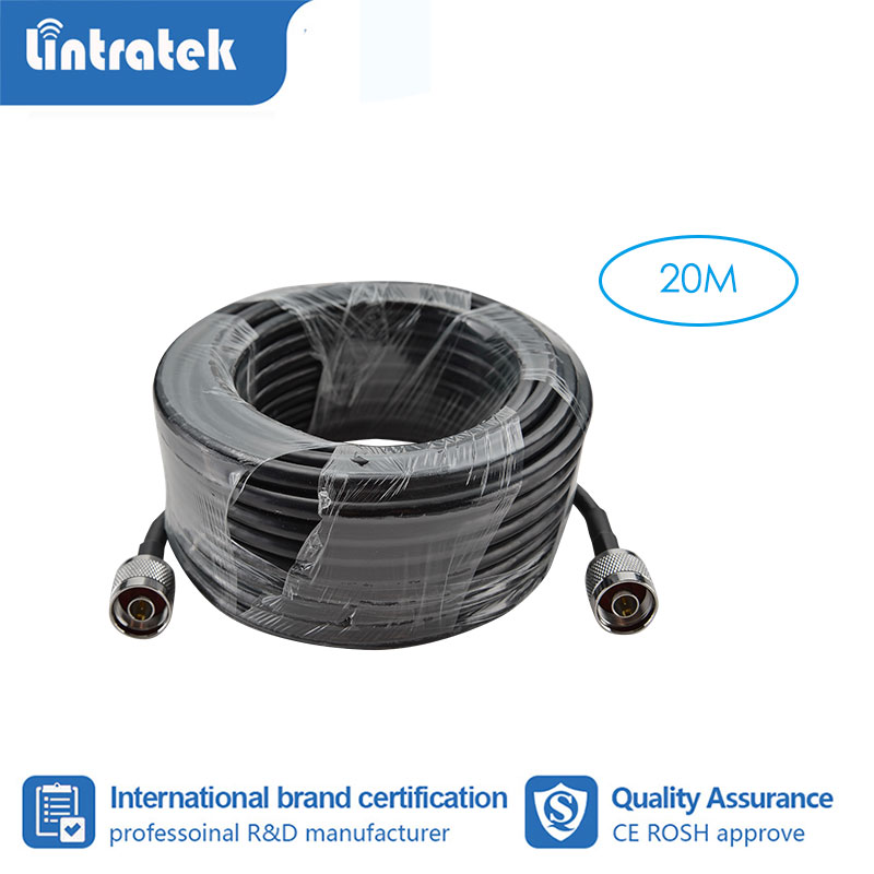 Lintratek 20 Meter Coaxial Cable N Male To N Male For Mobile Phone Signal Booster Repeater Amplifier #3