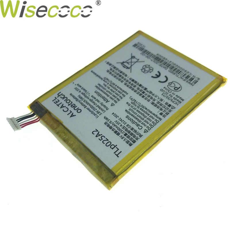WISECOCO في الأسهم 2500 mAh Tlp025a2 بطارية ل الكاتيل بلمسة واحدة البوب 2 (5) قسط/7044X/7044Y/7044A/7044 K الهاتف المحمول