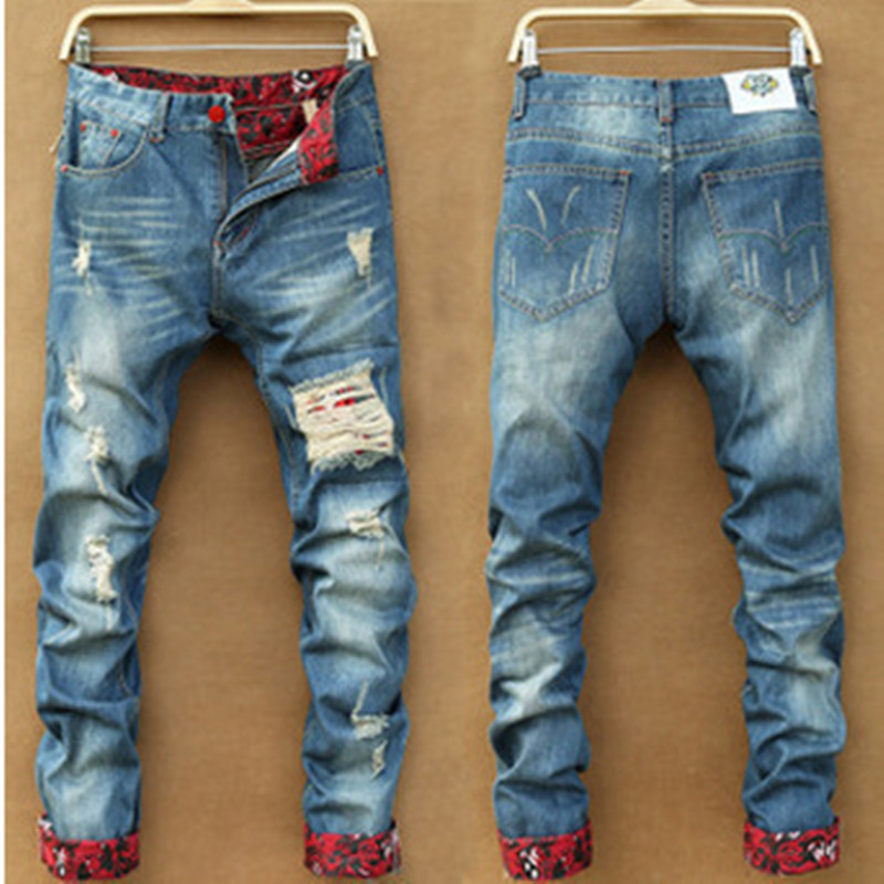 Men Slim Straight Jeans