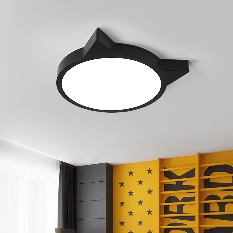 Black White art Modern LED ceiling light simple decoration fixture study dining room bedroom living room Children kids Room lamp creative stepless dimming led color cartoon dolphin crystal ceiling lamp children boys and girls study dining room light fixture