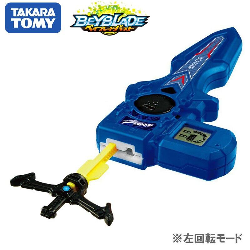 Original TOMY Beyblade rafale lanceur B-93 numérique épée lanceur bleu Double Rotation bey lame Xmas cadeau jouet pour enfants