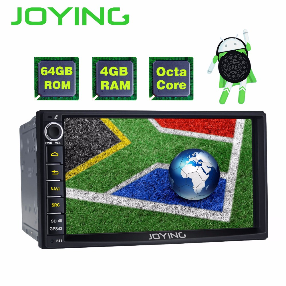 JOYING 64GB ROM 4GB RAM 8 CORE ANDROID 8.0 2 DIN CAR AUTORADIO 7 INCH CAPACITIVE TOUCH SCREEN HD 1024*600 STEREO GPS HEAD UNIT 7 hd digital capacitive touch screen universal 2 din android 8 0 octa core 4g ram 32g rom for nissan car audio stereo