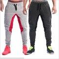 Pantalones masculinos de la Aptitud Sudor Pantalones Hombres Estética Pan Desgaste Para Los Corredores Gris Ropa Delgada Sudor Pantalones de Los Muchachos