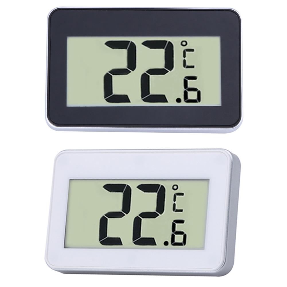 mini lcd digital indoor thermometer hygrometer white refrigerator