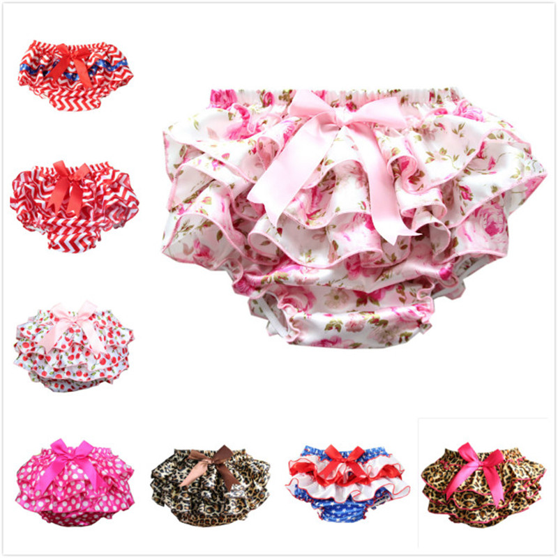 Baby   Shorts   Newborn bloomers Baby Diaper Cover Photo Props Layers Ruffle Satin Pants newborn Toddler Flower Cute   Shorts
