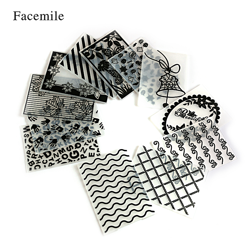 Facemile 1PCS Plastic Embossing Folder For Scrapbooking Irregular Bricks Type Photo Album Card Paper Craft Template Mold plastic embossing foldet flower diy scrapbooking photo album card paper craft decoration template