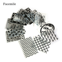 Facemile 1PCS Plastic Embossing Folder For Scrapbooking Irregular Bricks Type Photo Album Card Paper Craft Template Mold