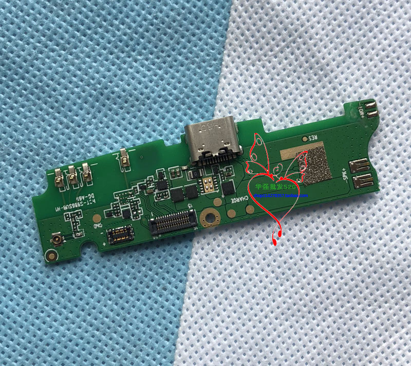 DOOGEE Bl9000 Charge Board With Microphone And Home Button For DOOGEE Bl9000 Charger Port Dock Charging Type-C Slot
