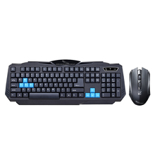 Wireless Keyboard Mouse Combo Set 2.4GHz Waterproof Wireless Keyboard +1600DPI Optical Gaming Mouse For Computer PC Game Gamer