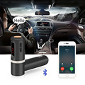 Fashion Wireless In-Car Bluetooth  Transmitter with 4.2A/21W 2-Port USB Car Charging Hands-Free Calling MP3 Player