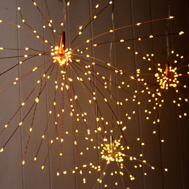 120Led 200 Led Solar Lamp Starburst String Light Copper Wire Solar Panel Powered Fairy DIY Firework Xmas Explosion Wedding Light (2)