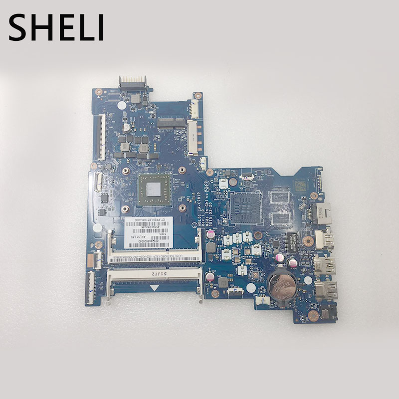 SHELI For HP 813967-501 15-AF ABL51 LA-C781P CPU Main Board Full Works