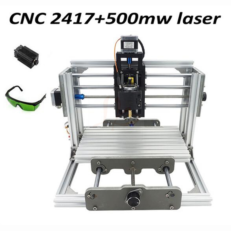 Mini diy cnc router 2417+500mw laser 2 in 1 CNC engraving machine Pcb Milling Machine Wood Carving machine cnc 2417 500mw laser grbl control diy cnc engraving machine mini pcb pvc milling machine metal wood carving machine cnc2417