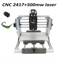 Mini Diy Cnc Router 2417 500mw Laser 2 In 1 CNC Engraving Machine Pcb Milling Machine