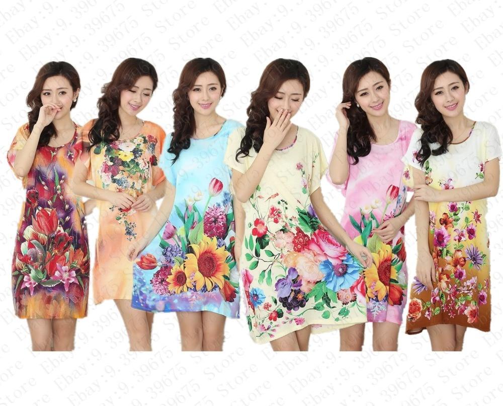 Fashion Women Cotton Robe Bath Gown Hot Sale Printed Nightgown New Sexy Ladies  Nightwear Sleep Tops Pijama Mujer MXP001 b9082d4e7