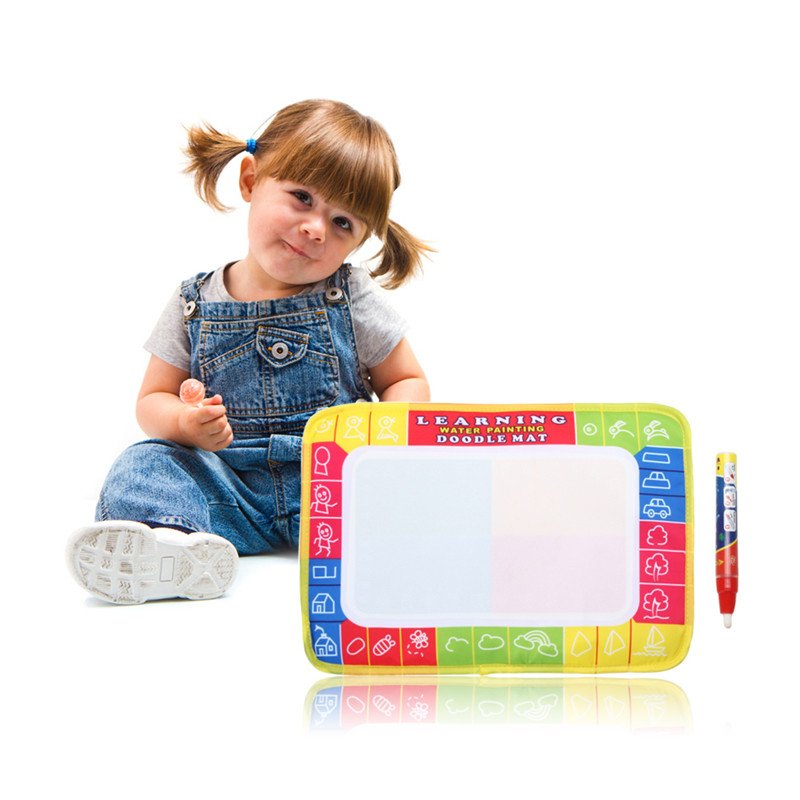 Water Drawing Mat Painting Writing Cloth Board Doodle Graffit Mat with Magic Pen Baby Kids Early Educational Toy Xmas Gift 29×19