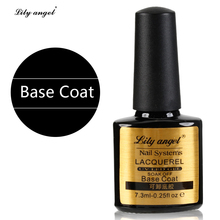 Lily angel Nail Base Coat 7.3ML Lacquer Long lasting Soak Off UV LED GEL Base Coat Manicure Nail Gel