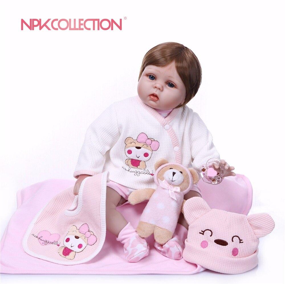 купить NPK 2018 New Design 55cm silicone reborn baby doll toys lifelike newborn girls baby play house girls birthday gifts reborn doll по цене 6051.1 рублей