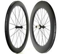 Front 60mm Rear 88mm Depth Road Bike Carbon Wheels 23mm Width Clincher Road Bicycle Wheelset With