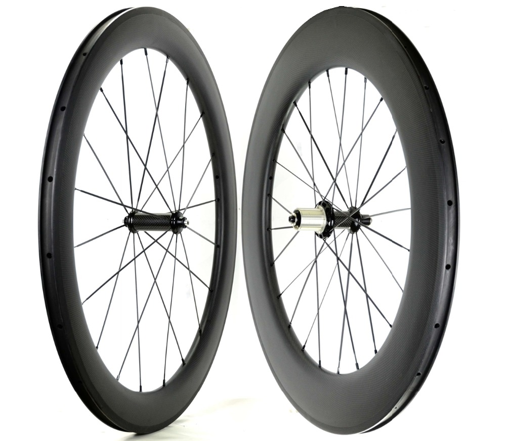 Free shipping Front 60mm Rear 88mm depth road carbon wheels 23mm width Clincher bike carbon fiber wheelset with Powerway R36 hub t700 powerway r13 hub ozuz 88mm carbon wheels road bike bicycle clincher with alloy nipple 3k carbon fiber wheel light wheelset