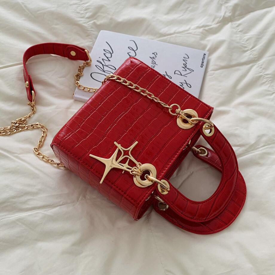 Elegant Female Crocodile Pattern Tote Bag 2019 New Quality PU Leather Women's Designer Handbag Chain Shoulder Messenger Bags