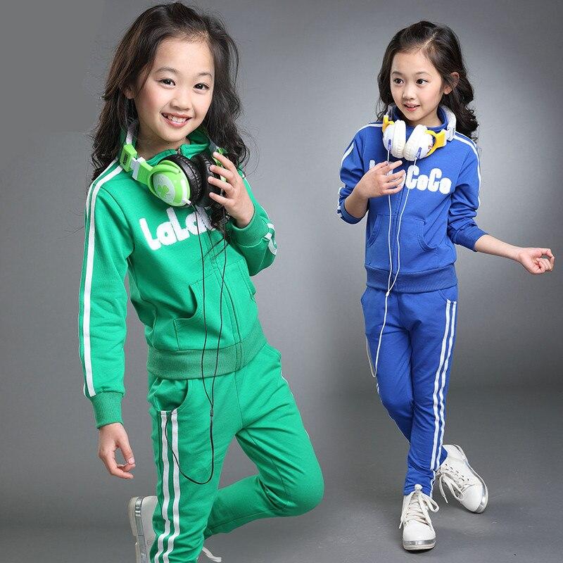 42bce796a 2 Pcs Girls Boys Tracksuit Kids Set Sportswear Trousers Long Sleeve Top  Outfit