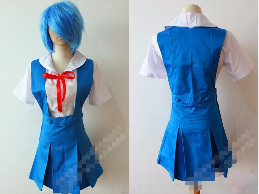 Аниме Evangelion Ayanami Rei Косплэй костюм Школьная форма Сорю Аска Лэнгли Лолита Костюмы платье