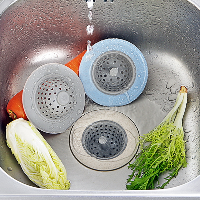 Dozzlor Kitchen Sink Strainer Silicone Wheat Straw Bathroom