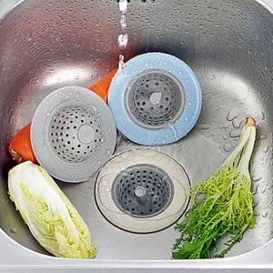 Dozzlor Drains-Cover HAIR-FILTER-STRAINER Sink Colander Wheat-Straw Bathroom Silicone