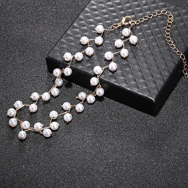 Sim. Pearl Bead Choker Necklace 4