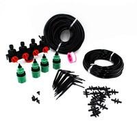 25m 4Way Hose Splitter Drop Emitter System Kits 3/5mm PVC Hose Home Balcony Drip Irrigation Set Greenhouse Dripper Set