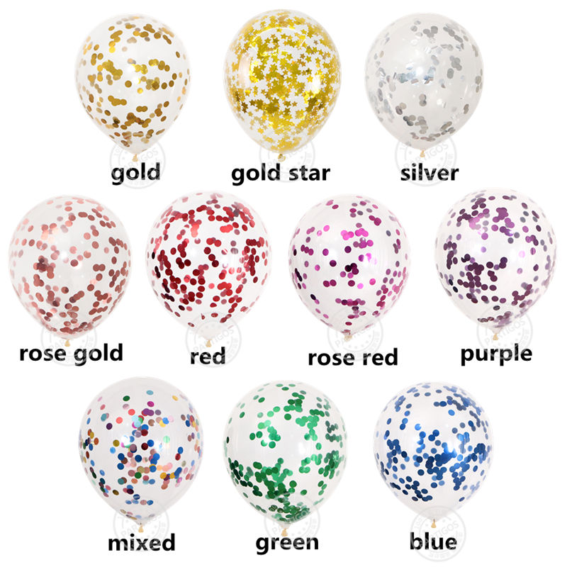 20pcs Rose Gold Confetti Set Balloons For Birthday Party And Wedding Decoration 19