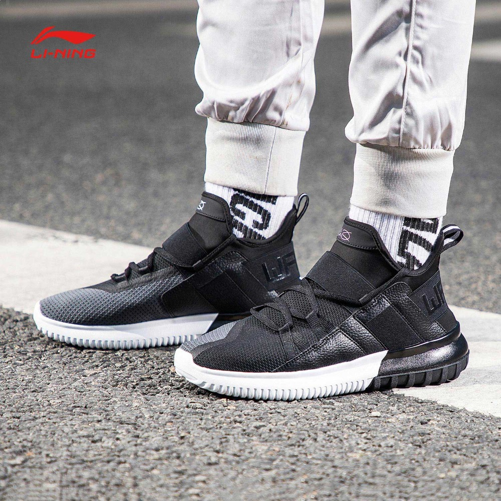 Li Ning Men CYBER PUNK WS Wade Leisure Shoes Wearable Mono Yarn Breathable LiNing Sport Shoes