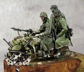 Free Shipping 1/35 Scale Resin Figure German motorized troops in winter (without Motorcycles and guns )
