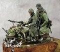 Frete Grátis 1/35 Scale Figura da Resina Alemão tropas motorizadas no inverno (sem Motocicletas e armas)