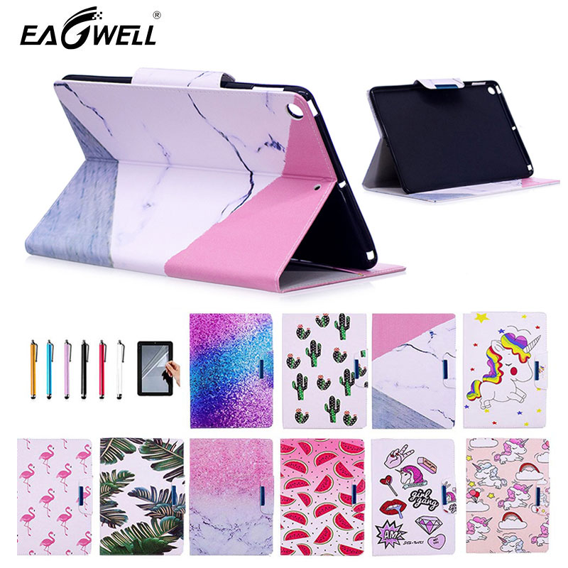 Eagwell For iPad Air Air 2 Case PU Leather Colourful Pattern Smart Cover Flip Case Stand Back Cover for iPad 5 6 Fundas Shell for ipad air case dowswin pu leather smart case for ipad air cover with pc hard back stand flip case for ipad air 1 cases