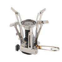 Clear Stock Portable Outdoor Picnic Gas Foldable Camping Mini Steel Stove Case