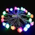 Navidad año Nuevo de iluminación 10 m 100LED Decoración Guirnalda Subió bola LED de Cuerda luces de Navidad Del Banquete de Boda Del Amor de La Lámpara de iluminación