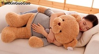 Cartoon Light Brown Bear Plush Toy Dressed Sweater Bear Large 65cm Soft Doll Throw Pillow Valentine