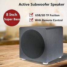 Bluetooth 120 W Heavy коробка басового звука 8 дюймов активный сабвуфер для ТВ проектор для телефона дома Театр