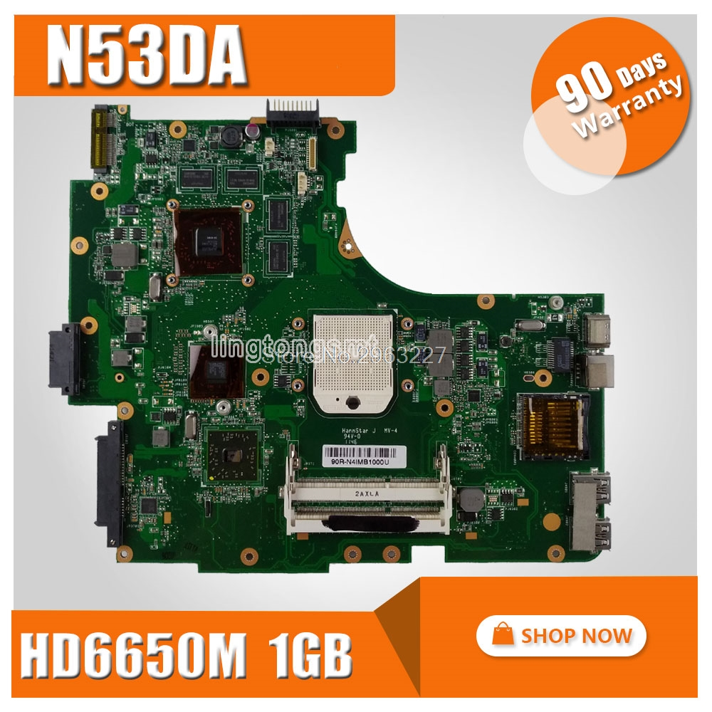 N53DA Motherboard HD6650M 1GB For ASUS N53DA Laptop motherboard N53DA Mainboard N53DA Motherboard test 100% OK pia 639dv motherboard 100