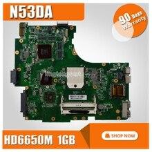 N53DA материнской HD6650M 1 ГБ для ASUS N53DA Материнская плата ноутбука N53DA плата N53DA материнской Тесты 100% OK