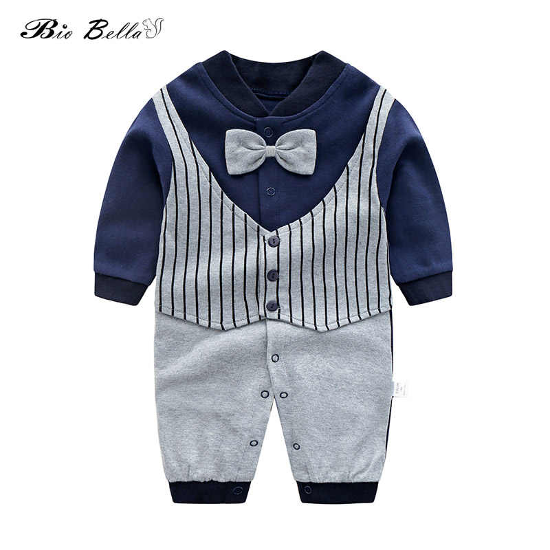 c60ec5303d75 New Baby Rompers Cotton Long Sleeve Beard Print Clothing Plaid Overalls for  Newborn Baby Clothes Boy
