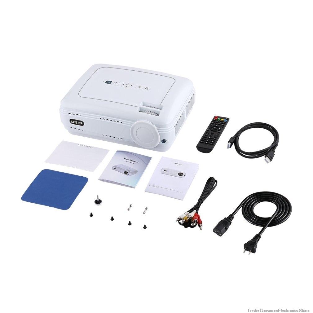 BL58 projecteur LED projecteur vidéo blanc Portable Home cinéma cinéma jeu projecteur HDMI VGA USB WIFI pour Android chaud - 6