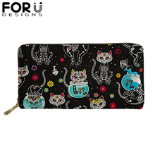 Brand Zipper PU Leather Wallets for Woman Lady 8 inch Long Purses with Lovely Sloth Animal Girls Money Coin Bag Card Holders