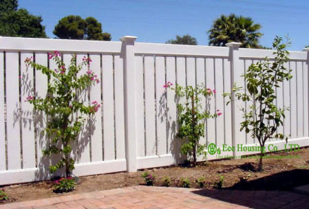 Semi-Privacy Fencing Manufacturer In China, White Color Vinyl Semi-private Fence, Vinyl Fencing Fir Sale