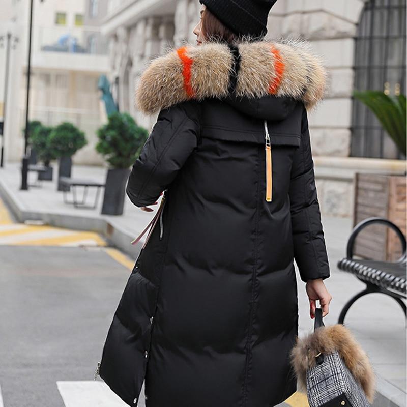 Cheveux Veste Green Nouvelle Col gris rust Noir Épaissie D'hiver Manteau kaki Red Grande Coton Costume army Longue Femme Femelle De vaAIPI