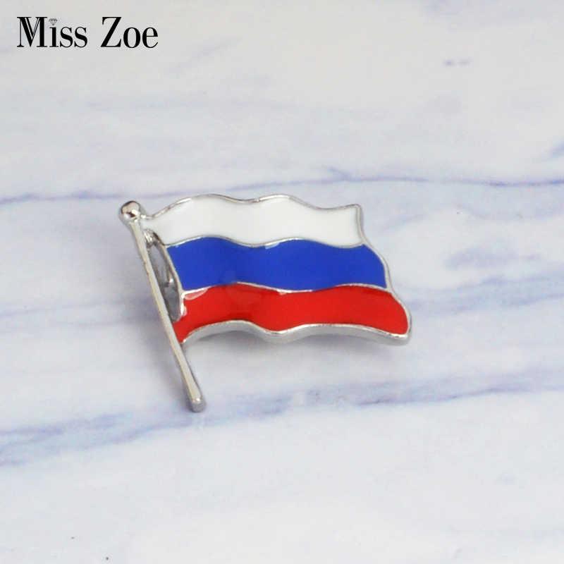 Bendera Rusia Enamel Pin Berkibar Bendera Pin Bros untuk Baju Tas Topi Mantel Kerah Pin Gesper Lencana Hadiah untuk Rusia pembeli
