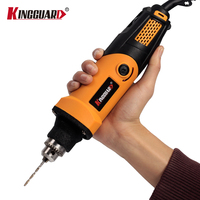 Russia Kingguard 400W Mini Electric Drill With 6 Position Variable Speed Dremel Rotary Tools Mini Grinder