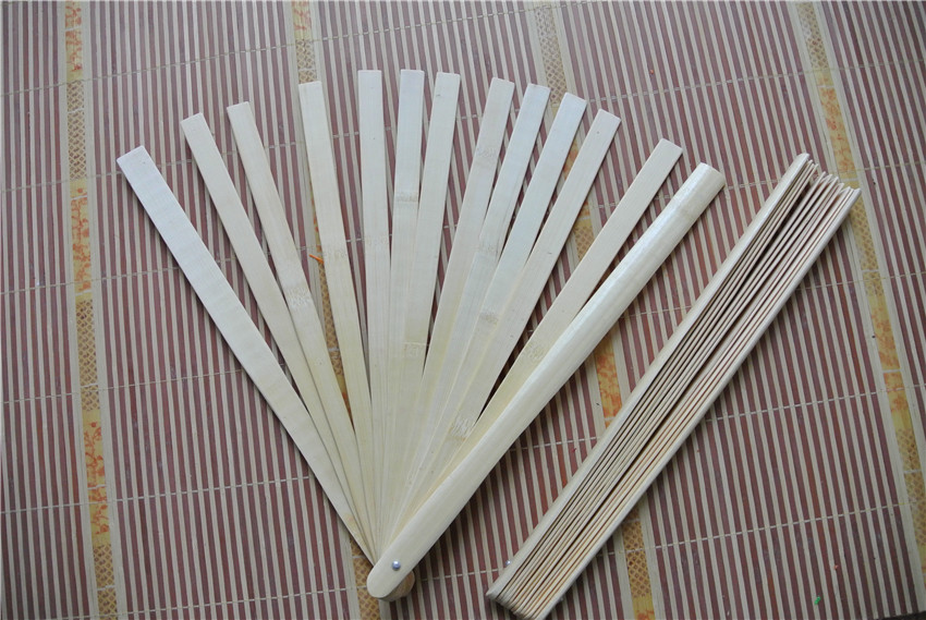 10 sztuk bambusa drążki wentylator 13 sztuk z deszczułkami, za bambusowy wentylator w Pióro od Dom i ogród na  Grupa 1